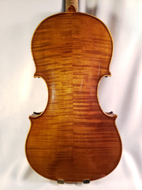Berhard Poehland violin Brooklyn back