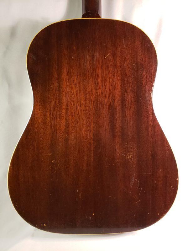 Vintage 1954 Gibson J-45 guitar back