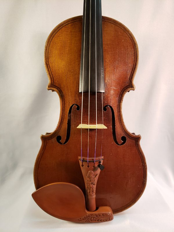 Czech highly carved violin early 1900's