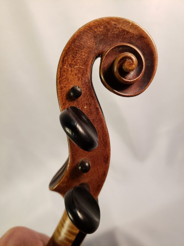 1800's German violin scroll