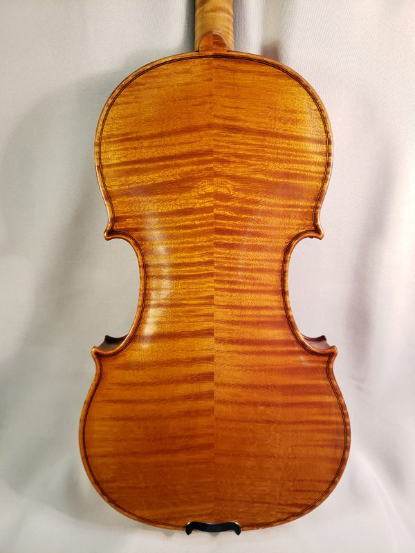1959 Gustav August Ficker violin Mittenwald back
