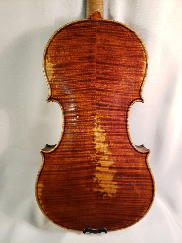 Fritz Monnig violin 1930's Markneukirchen back