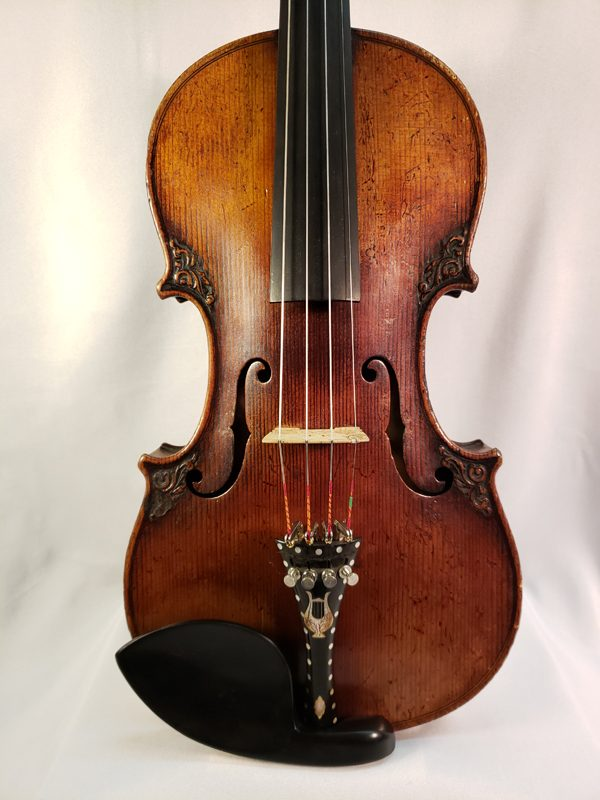 Carved German Lion's head violin late 19th century