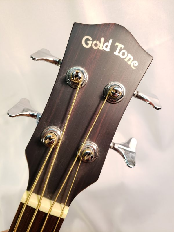 Gold Tone acoustic electric bass guitar ABG4 headstock