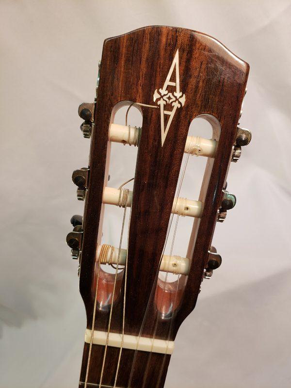 Alvarez AC65CE classical guitar headstock