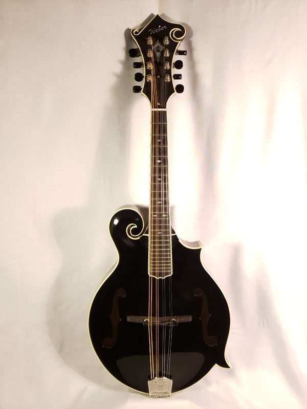 New Weber Black Ice F-14 mandolin full length