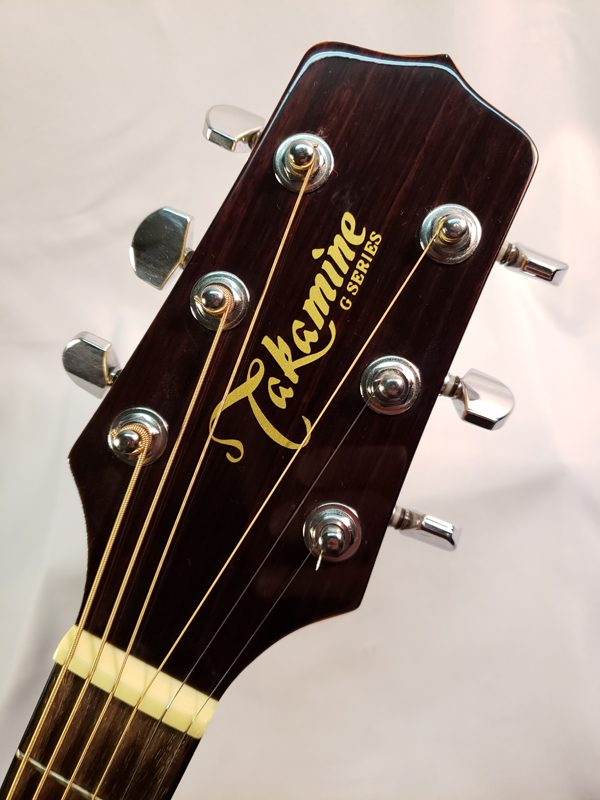 Takamine EG523SC cutaway electric guitar headstock