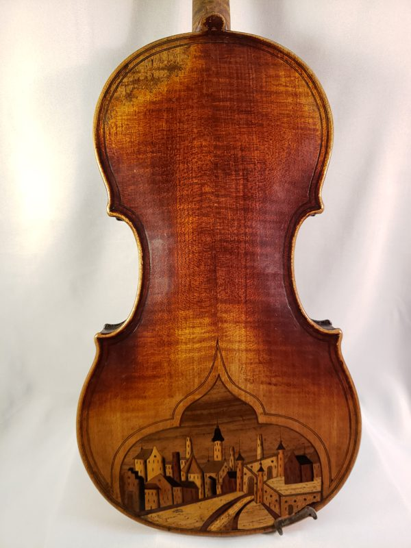 French carved head violin mid 1800's Paris