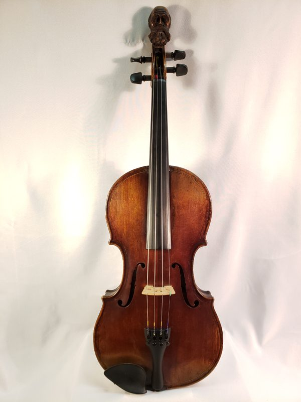 French carved head violin mid 1800's Paris full length