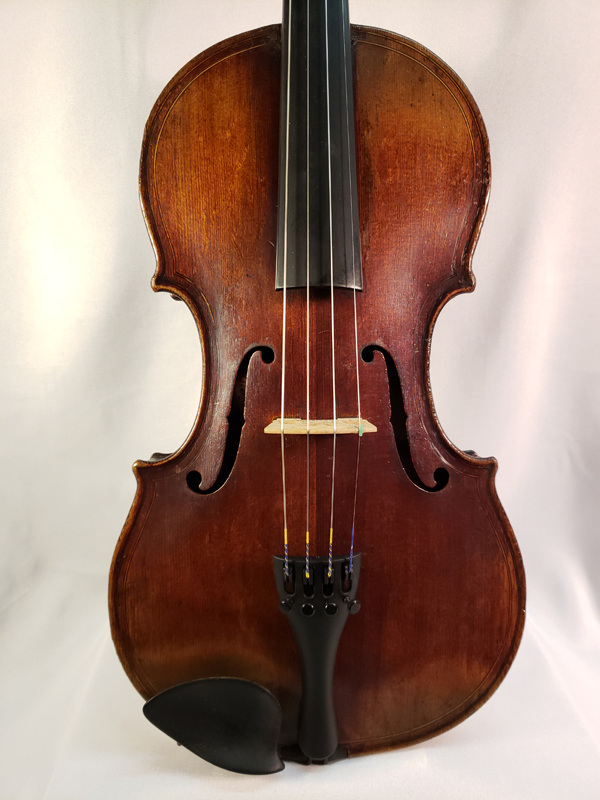 French Carved Head Scroll Violin mid 1800's