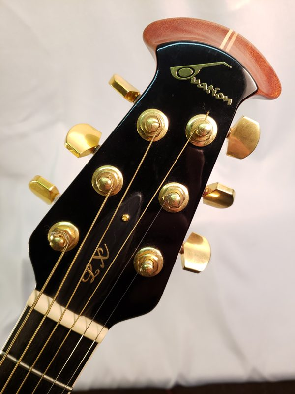 Ovation ELite LX acoustic guitar headstock